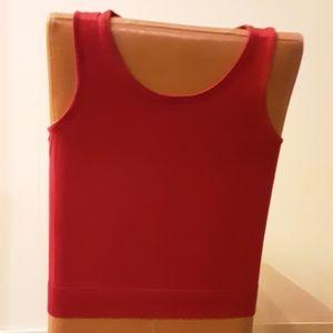Talbots Red Sleeveless Sweater